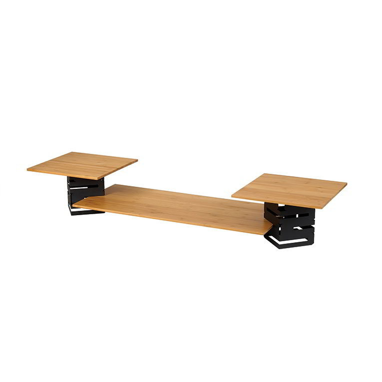 Rosseto SK003 5-Piece Multi-Level Riser Set - Bamboo/Black