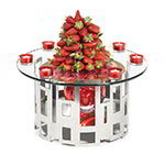 Rosseto SK011 2-Piece Centerpiece Riser Display Set - Stainless/Clear Glass