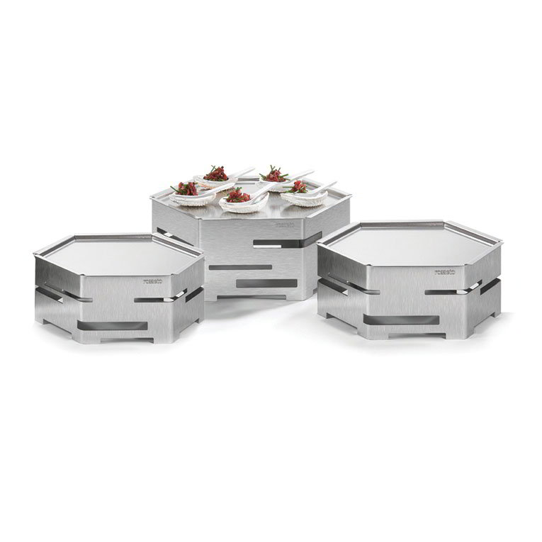 Rosseto Serving Solutions SK021 9-Piece Honeycomb Cooler Kit - Stainless