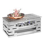"Rosseto SK031 Rectangular Warmer Kit - 23-1/4x13-1/2x10-1/2"" Stainless"