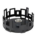 "Rosseto SM106 14"" Round Warmer/Chafer - 7"" High, Black"