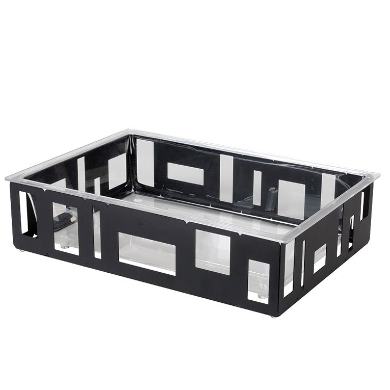 "Rosseto SM114 Rectangular Ice Tub - 26-1/2x18-1/2x7"" Acrylic/Black"