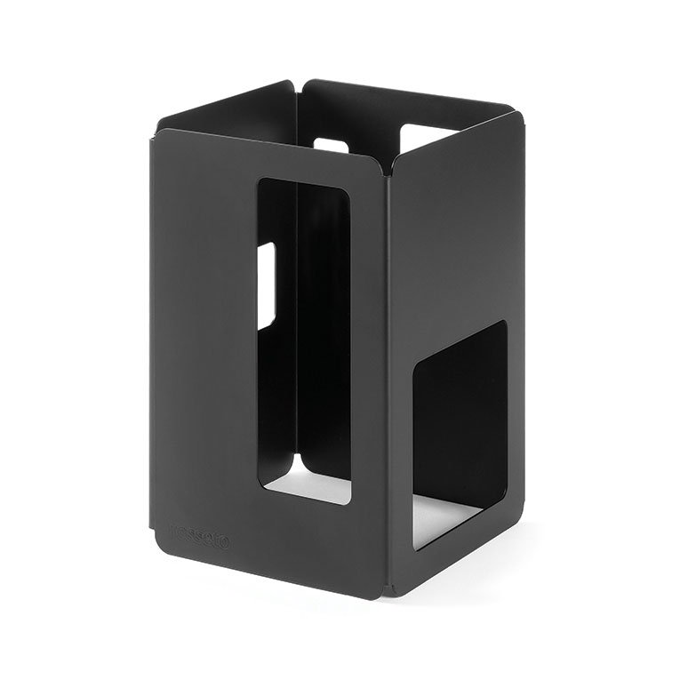 "Rosseto SM129 6"" Square Display Riser - 10"" High, Black"