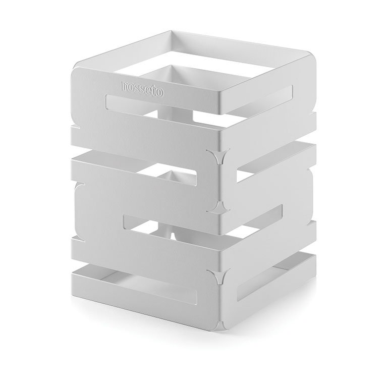 "Rosseto SM131 Multi-Level Square Display Riser - 6x6x8"" White"