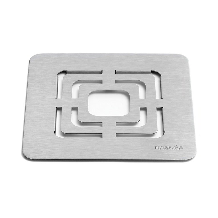 """Rosseto SM139 10"""" Square Grill for Buffet Warmer - Stainless"""