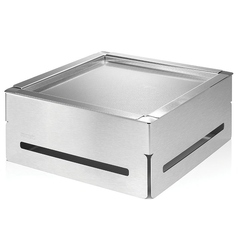 "Rosseto SM163 14-1/4"" Square Cooler Set - 6-1/2"" High, Stainless/Acrylic"