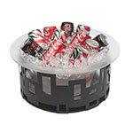 "Rosseto SM182 14"" Round Ice Tub - Acrylic/Black"