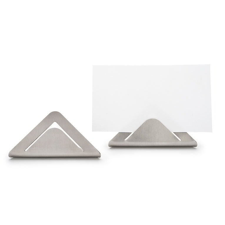 "Rosseto Serving Solutions SM196 Card Sign Holders - 1.3x2.6x1.2"" Stainless"