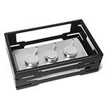 "Rosseto SM234 Rectangular Warmer Kit - 21.6"" x 13.57"" x 7"", Black"