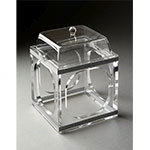 "Rosseto SMP1487 Small Mod Pod with Lid - 6x6x7-2/3"" Clear Acrylic"