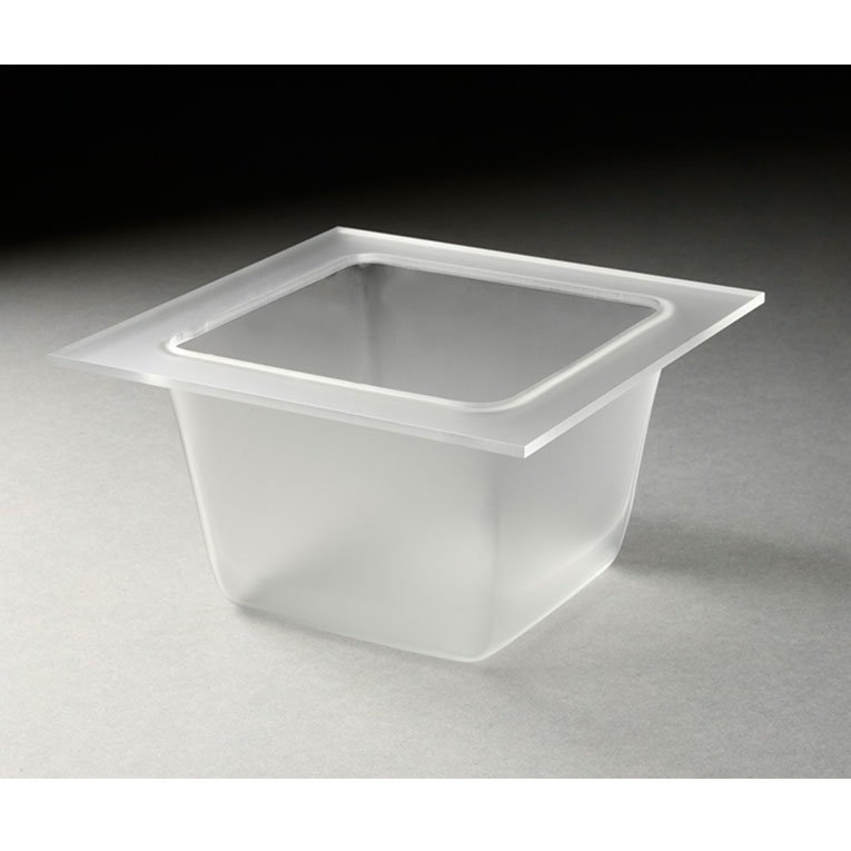 "Rosseto Serving Solutions SST1500 5-2/5"" Square Mod Pod Tray - Frosted Acrylic"