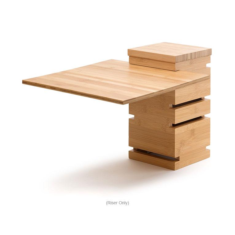 "Rosseto SW100 12"" Square Multi-Level Riser - Bamboo, Natural Finish"