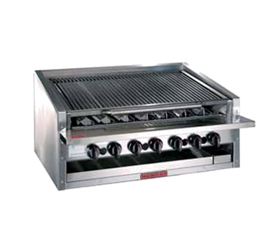 "Magikitch'n APM-RMB-636 36"" Radiant Charbroiler w/ Round Rod Top Grate, NG"
