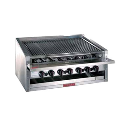 "Magikitch'n APM-RMB-648 48"" Radiant Charbroiler w/ Round Rod Top Grate, NG"