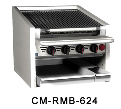 "Magikitch'n CM-RMB-636 36"" Radiant Charbroiler w/ Round Rod Top Grate, LP"