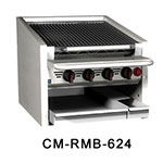 "Magikitch'n CM-RMB-636 36"" Radiant Charbroiler w/ Round Rod Top Grate, NG"