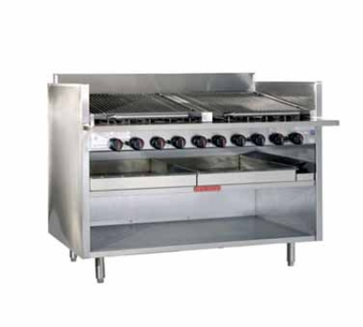 Magikitch'n FM-RMB-636 NG 36-in Radiant Charbroiler, Floor Model, NG