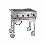 """Magikitch'n LPG-30-SS 30"""" Mobile Gas Commercial Outdoor Grill w/ Water Pans, LP"""