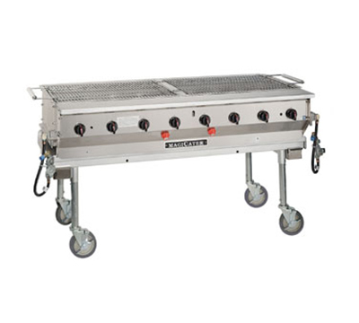 "Magikitch'n LPG-60 60"" Modular Radiant Transportable Aluminized Grill, LP"