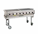 "Magikitch'n NPG-60 60"" Mobile Gas Commercial Outdoor Grill w/ Water Pans, NG"