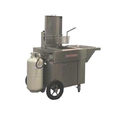 Magikitch'n MCF18 Outdoor Gas Fryer - (1) 65-lb Vat, LP