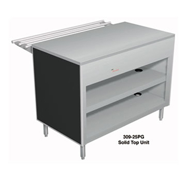 "Duke 309-25PG 46"" Solid Top Utility Counter w/ 2-Shelves, Stainless Top"
