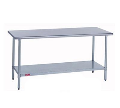 "Duke 416S3696 96"" 16-ga Work Table w/ Undershelf & 400-Series Stainless Flat Top"