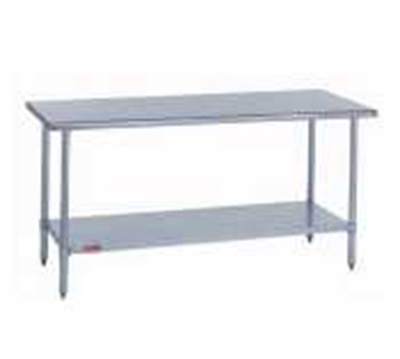 "Duke 418-2430 30"" 18-ga Work Table w/ Undershelf & 400-Series Stainless Flat Top"