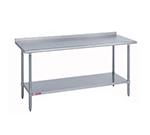 "Duke 418-2436-2R 36"" 18-ga Work Table w/ Undershelf & 400-Series Stainless Top, 1.125"" Backsplash"