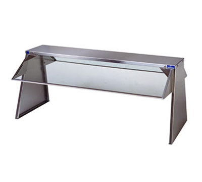 Duke F639 Buffet Shelf w/ 2-Tempered Glass Guards, 4-Section, 10 x 18 x 72.37""