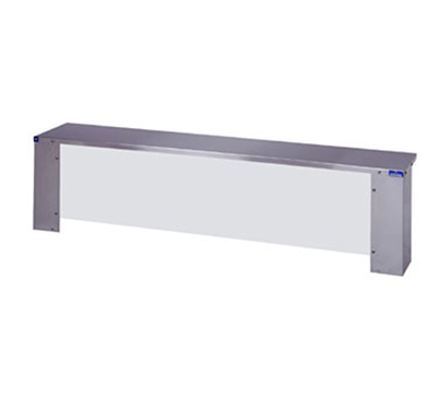 "Duke F656-460-4S 58.37"" Serving Shelf for 4-Pan Unit w/ Acrylic Protector Panels, Stainless"