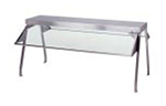 Duke 838-1SN Buffet Shelf w/ 1-Glass Sneeze Guard, 55.37 x 10.5 x 20-in, Stainless