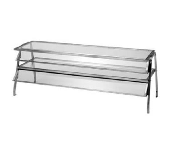Duke 985 Glass Display Shelf, 72-3/8inLong x 16inWide x 20inHigh (Width For Bottom Shelf)