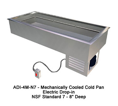 "Duke ADI-3M-N7 47"" Drop-In Refrigerator w/ (3) Pan Capacity, Cold Wall Cooled, 120v"