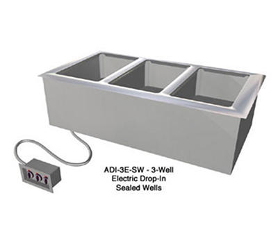 "Duke ADI6ESW208601 Hot Food Drop-In Unit w/ 6-Wells, 88.25 x 12.75"", All Stainless"