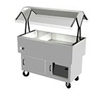 "Duke DPAH-1H2C 44.37"" Hot Cold Portable Buffet w/ 2-Cool Sections & 1-Hot Well, Enclosed Base"