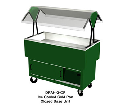 "Duke DPAH-4-CP 217101 58.37"" Cold Food Portable Buffet w/ 4-Pan Capacity, Ice Cool, Semi-Gloss Black"