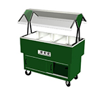 "Duke DPAH-4-HF 101-2081 58.37"" Hot Food Portable Buffet w/ 4-Well, Semi-Gloss Black, 208/1 V"