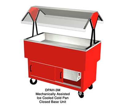 "Duke DPAH-4M 217101 58.37"" Cold Food Portable Buffet, 4-Pan, Mechanical Cool, Semi-Gloss Black"