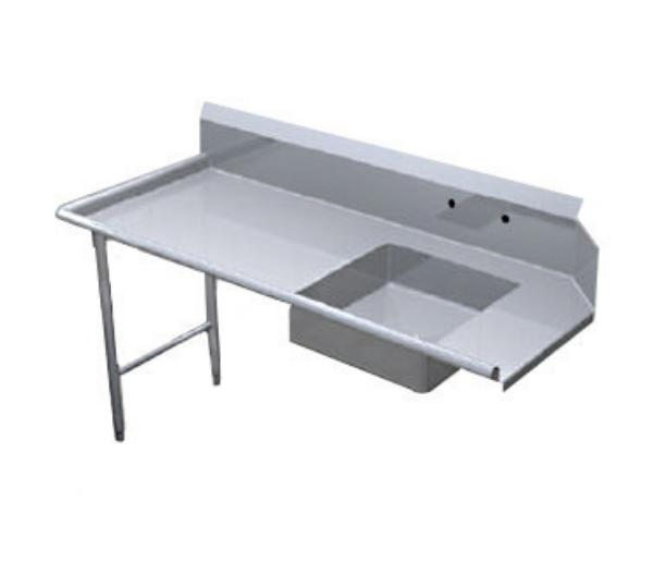 Duke DSSD-60R Deluxe Soiled Dishtable, Straight Type, S/S, 60 in Long, Right
