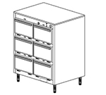 Duke 1306P 2403 Pass Thru Heated Holding Cabinet, 1-Thermostat Per 6-Compartments, Leg, 240/3 V