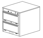Duke 1452 2403 Reach In Heated Cabinet, 1-Thermostat Per 2-Compartments, 240/3 V