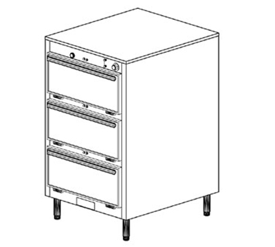Duke 1453 2401 Reach In Heated Cabinet, 1-Thermostat Per 3-Compartments, Legs, 240/1 V