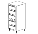 Duke 1455P 2401 Pass Thru Heated Holding Cabinet, 2-Thermostat Per 5-Compartments, Leg, 240/1 V