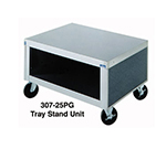"Duke 307-25SS 32"" Tray Stand Unit w/ Stainless Top & Body, 6"" Legs, Adjustable Feet"