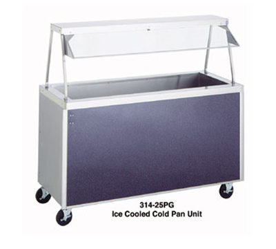 "Duke 325-25SS 24.5"" Cold Food Unit w/ Stainless Body & Shelves, Insulated, 6"" Legs"