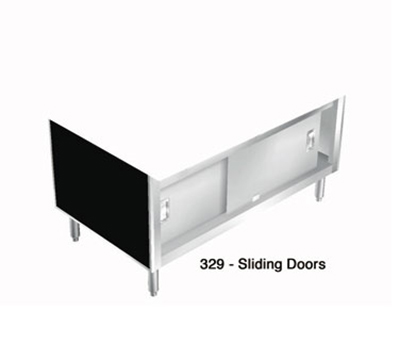 "Duke 329-4SS 60"" Sliding Doors w/ Ball-Bearing Wheels on Overhead Tracks for 3-Well Units"