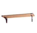 "Duke T442-3W 7"" Hardwood Carving Board on 2-Fixed Brackets, 1.12"" Thick for 3-Well Units"