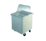 "Duke 5027 28-Gallon Ingredient Bin, Mounted On 3"" Casters, 22x22x23"", White"