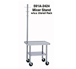Duke 592A-3024 Stainless Mixer Stand w/ Adjustable Undershelf, Rounded Corners, 30x24x29-in
